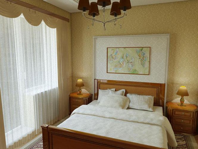 Дизайн спальни с балконом 13 кв м