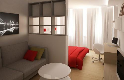 разделение комнаты на зоны фото